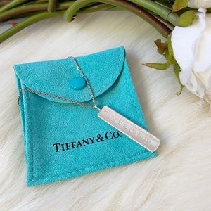 Tiffany & Co Silver Bar Pendant Necklace